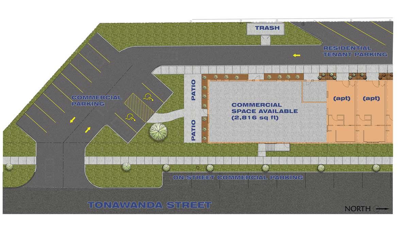Black Rock Freight House site plan